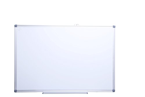 36 x 48 Magnetic Whiteboard Bundle, Heavy Duty Aluminum frame, Easy Erase Melamine Dry Erase surface with 2 easy hanging methods, 2 Markers, 2 Magnetic and Eraser Included Melamine Dry Erase Board