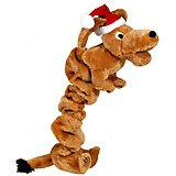 Kyjen Outward Hound PP01971 Bungee Weiner Dog Holiday Dog Squeaky Plush Toy Tug Toy, Large, ()