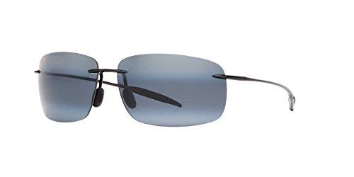 Maui Jim Unisex Sunglasses, Black Shiny Lenses Acetate Frame, ()