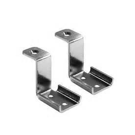 Allen Roth Nickel Finish Corner Bracket - (Pack Of 2) - Nickel Corner Bracket