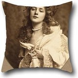 Oil Painting Rudolf Eickemeyer, Jr. - Evelyn Nesbit Pillow Shams 16 X 16 Inch / 40 By 40 Cm For Husband,divan,bar,home Theater,bedroom,lounge With 2 Sides (Mini Houndstooth Rug)