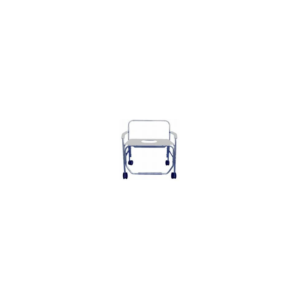 Heavy Duty Shower/Commode Chair   with Bench Seat   with Commode Opening