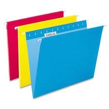 Hanging Folder, 1/5 Tab Cut, Legal Size, Yellow, Sold as 1 Box, 25 Each per Box