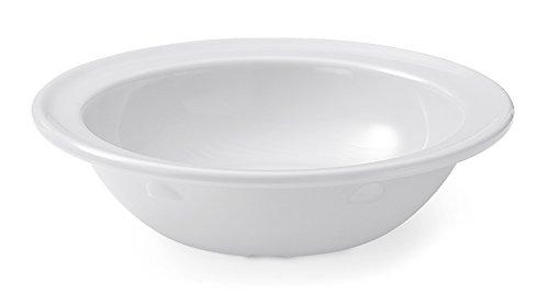 G.E.T. Enterprises 5 oz. White Rimmed Bowl, Break Resistant, Supermel by GET DN-350-W-EC (Pack of 4)