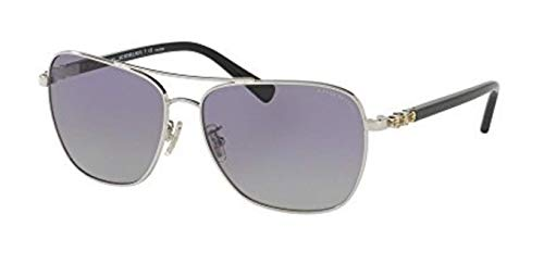 Coach Womens Sunglasses Silver/Purple Metal - Polarized - 59mm