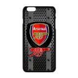 FEEL.Q- Arsenal F.C. Personalized Protective Black TPU Rubber Cell Phone Case Cover for iPhone 6+ 6Plus 6S Plus