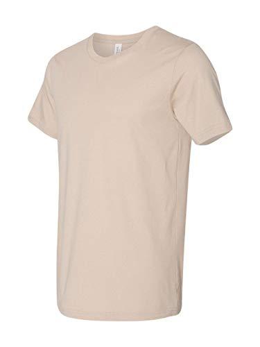 Bella Canvas Men's Jersey Short Sleeve Tee, Tan, Large (Tan T-shirt Tee)