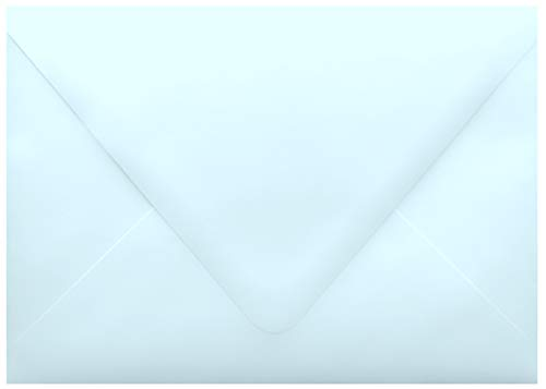 Special Sale! Powder Blue Contour Euro Flap 50 Boxed A7-70lb Envelopes (5-1/4 x 7-1/4) for 5 x 7 Invitations Announcements Showers Weddings by The Envelope Gallery