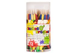 First Impressions Bucket o' Brushes for Kids - 72 Count Smal