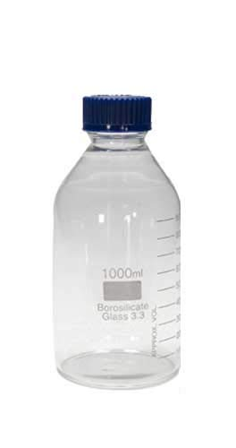 Francisco Segarra - Botella De Cristal Medidor con Tapon Azul - Graduada hasta 1000ML: Amazon.es: Hogar