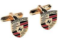 Enamel Genuine Cufflinks - Porsche Crest Cufflinks