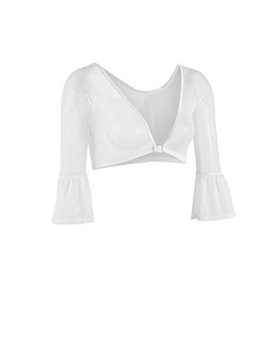 - Sleevey Wonders Women's Bell 3/4 Length Slip-on Mesh Sleeves M White