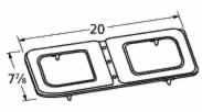 Music City Metals 14212 Stainless Steel Burner Head Replacement for Select Gas Grill Models by Broil King.89-91, Broil King and Others - Stainless Steel Figure 8 Burner