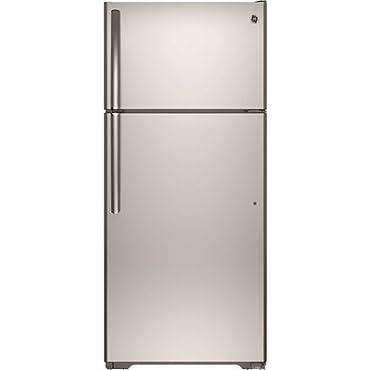 GE GTS16GSHSS 15.5 Cu. Ft. Stainless Steel Top Freezer Refrigerator Right Hinge