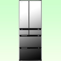 日立 565L 6ドア冷蔵庫(クリスタルミラー)HITACHI 真空チルドFS R-M5700D-X