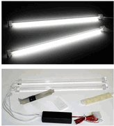 White Dual 12 inch Cathode Lights CCFL