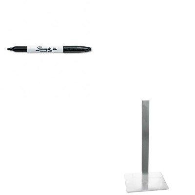 KITMLNCA411SSAN30001 - Value Kit - Mayline Hospitality Table Square Pedestal Base (MLNCA411S) and Sharpie Permanent Marker (Mayline Square)