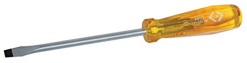 C. K Tools T4810 10 Classic Slotted Flared Tip Screwdriver - Flared Slotted Screwdriver