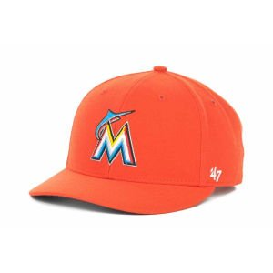 Mlb Miami Marlins Hat Alternate Bullpen Mvp 47 Brand Cap Mvp Mf Wool, Adjustable, Orange