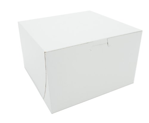 Wholesale Cake Boxes (Southern Champion Tray 09455 Premium Clay Coated Kraft Paperboard White Non-Window Lock Corner Bakery Box, 8