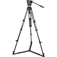 Sachtler Ace L GS CF Tripod System with Ground Spreader, 13.2 lbs Head Load Capacity, 22.4 to 68.1'' Height Range, 2-Stage Carbon Fiber Tripod Legs by Sachtler