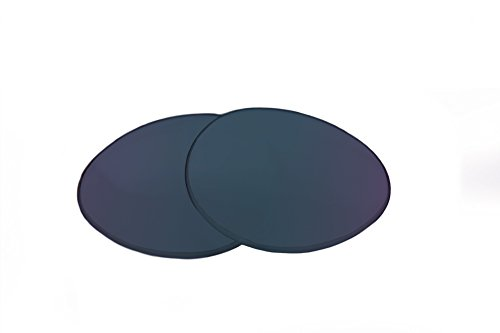 SFx Replacement Sunglass Lenses fits Electric Bullitt 69mm Wide (Ultimate Blue Mirror Black Pair-Polarized)