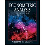 Econometric Analysis, Greene, 0131587196