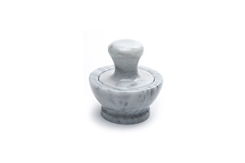 (Fox Run 3844 Marble Mortar and Pestle, White)
