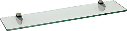 IB-Style - Wandregal - Glasregal | 72 Variationen | 400 x 200 x 8 mm klar + Halterungen Classico Edelstahloptik