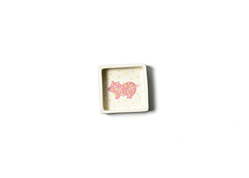- Coton Colors Chinese Zodiac Pig Square Trinket Bowl