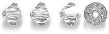 Swarovski 5328 Xilion Bicone Diamond Beads, Crystal Effects, Comet Argent Light, 4-mm