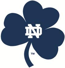 (2 Inch Notre Dame Blue Shamrock Logo Decal University of Notre Dame Fighting Irish ND Removable Wall Sticker Art NCAA Home Room Decor 2 by 2)