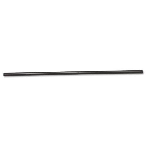 Boardwalk 285BLK Unwrapped Jumbo Straws, 7 3/4