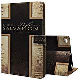 New iPad 2017 iPad 9.7 inch Case , Customized PU Leather Bible Verses Christian Quotes salvation cross with Auto Smart Folio Wake Sleep ,Stand Cover Cases For Apple New iPad 2017 iPad 9.7 inch Case
