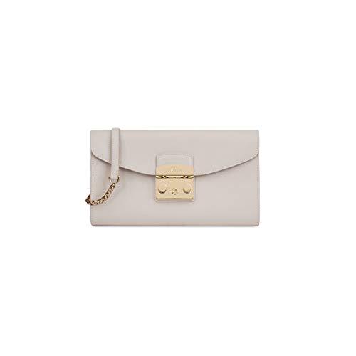 Furla Metropolis Ladies Small White Perla Leather Pochette 978072 ()
