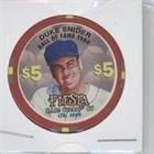 Duke Snider #/1,000 (Baseball Card) 1996-98 Fiesta Casino $5 Poker Chips - [Base] #DUSN from Fiesta Casino $5 Poker Chips