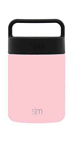 Simple Modern 12oz Provision Food Jar with Handle Lid - Vacuum Insulated Thermos 18/8 Stainless Steel Hydro Leak Proof Food Storage Container Flask - Blush by Simple Modern