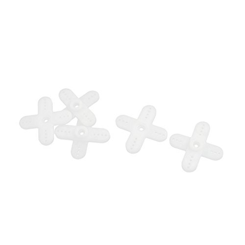 5pcs White Plastic Cross Servo Horn 44 x 42 x 6mm 6mm Gear Hole Dia