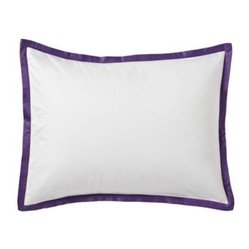 Serena and Lily Purple Border Frame Standard Sham