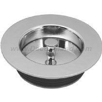 Westbrass D212-07 Universal Replacement Disposal Flange and Stopper Satin Nickel