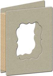 K&COMPANY Exposed Chipboard, Die, Cut Frame Book