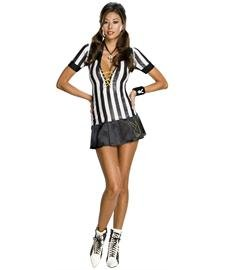 Playboy Referee Costumes - Playboy Sexy Referee Costume - Large