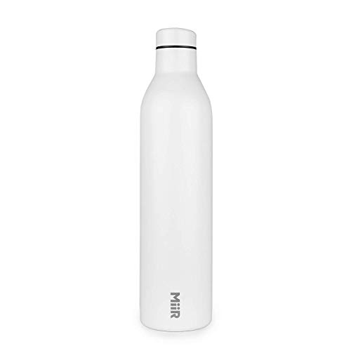 - MiiR Insulated Wine Bottle - 750ml (25.3oz) Double Wall, Vacuum Insulated Bottle for Wine or Water with Leak Proof Lid for Camping, Picnics, BBQ and Home - White