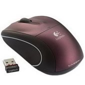 Logitech V450 Nano Cordless Laser Laptop Mouse - Plum Purple