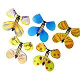 Meeruz 5-Pcs Magic Butterfly Flying in the Book Fairy Rubber Band Powered Wind Up Butterfly Toy Great Surprise for Wedding And Birthday Gifts ()