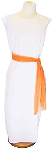 World Book Day-Egypt-Rome-Greek-Egyptian SLAVE GIRL WHITE DRESS with ORANGE SASH Child's Costume - All Ages -