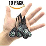 ({ME SUPERB} Mini Survival Compass, Pack of 10 - Outdoor Camping Hiking Pocket Compass Liquid Filled Mini Compass For Paracord Bracelet Necklace Key chain)