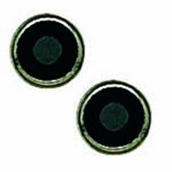 INVERNESS Titanium Basics 4 mm Black Onyx Bezel Piercing Earrings 197C (Onyx Titanium)