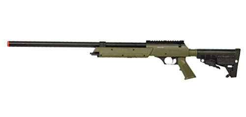 WELL Spec-Ops APS SR-2 Spring Powered Airsoft Sniper Rifle Gun FPS 500 (Green) - Airsoft Well