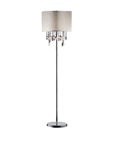 "Ore International K-5125F Drape Crystal Floor Lamp, 60.5"" x"